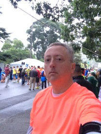 Here I am just before participating in my 3rd Oakland Running Festival 5K.
