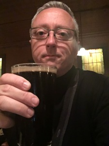 Enjoying my Cutthroat Porter at My Brother's Bar.